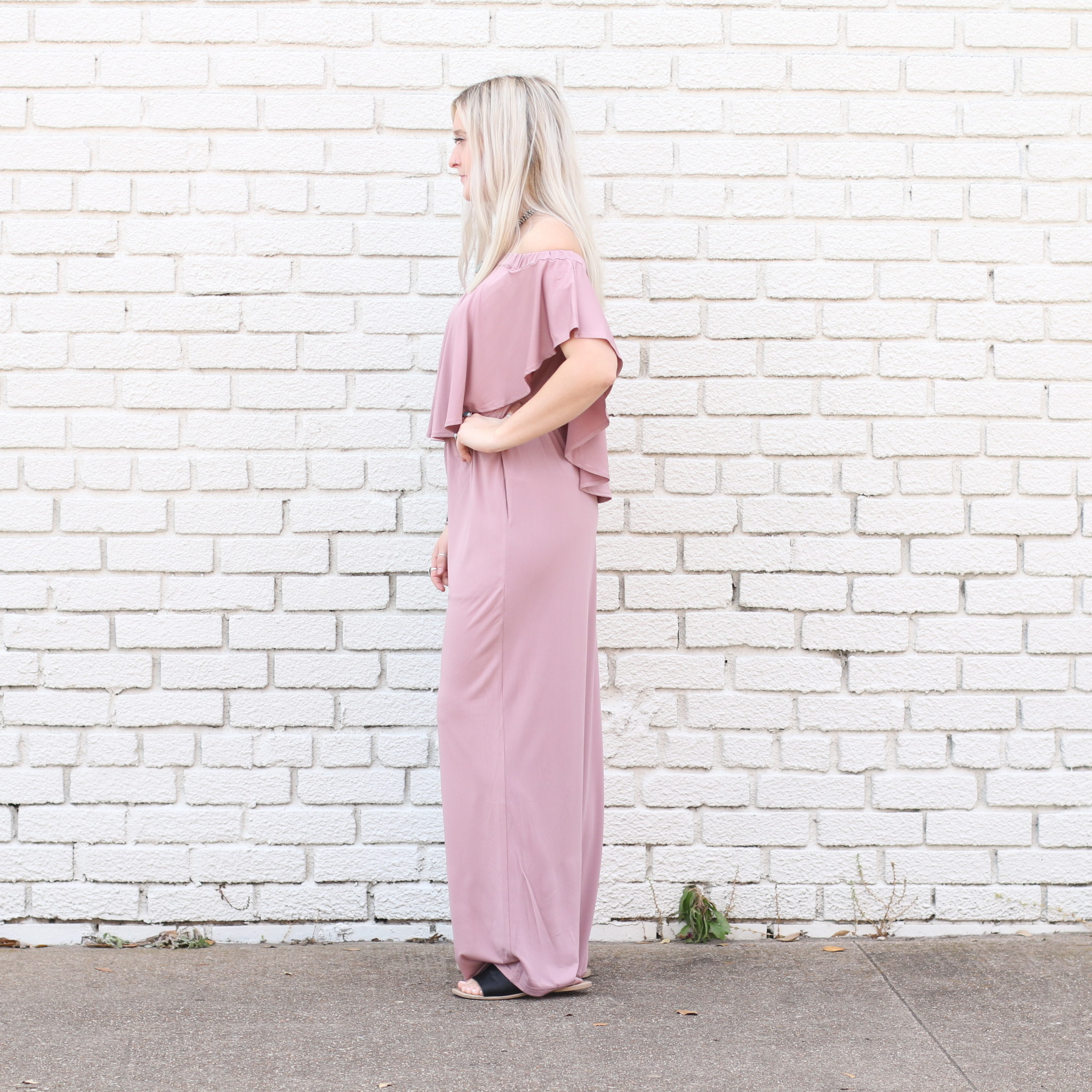 Punchy's Makin' My Way Downtown Jumpsuit MAUVE