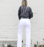 Punchy's White Mila Highrise Wide Leg Pant