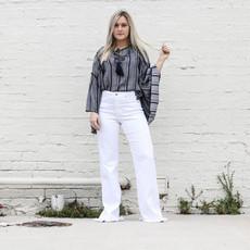 Punchy's White Mila Highrise Wide Leg Pant