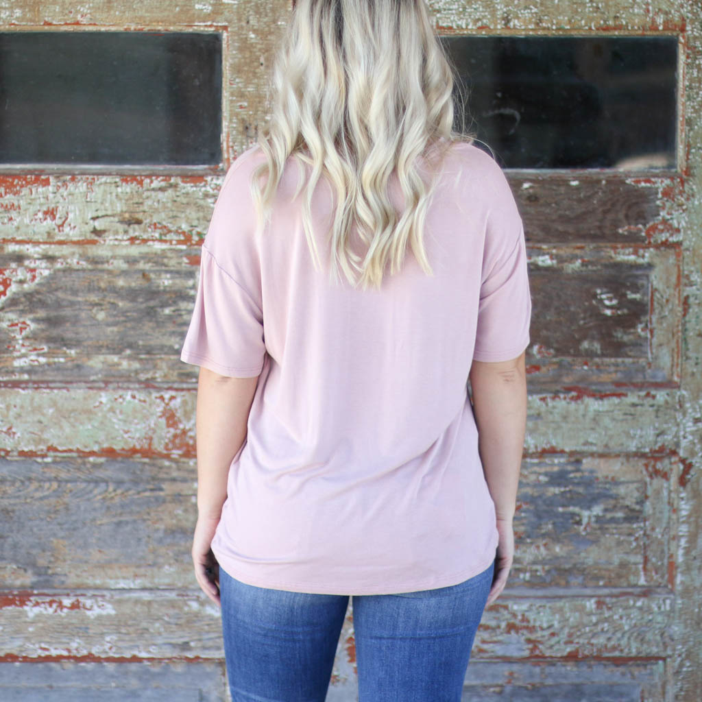 Punchy's Adventure Awaits Distressed Pink Tee