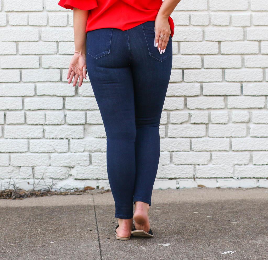 Punchy's Dark Denim Mid Rise Skinny Jean