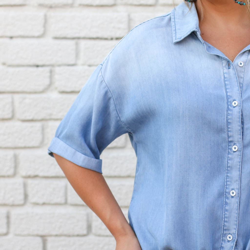Punchy's Denim Front Tie Shirt