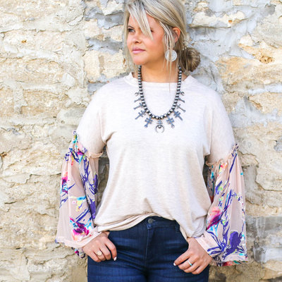 Punchy's Multi Colored Contrast Top LARGE