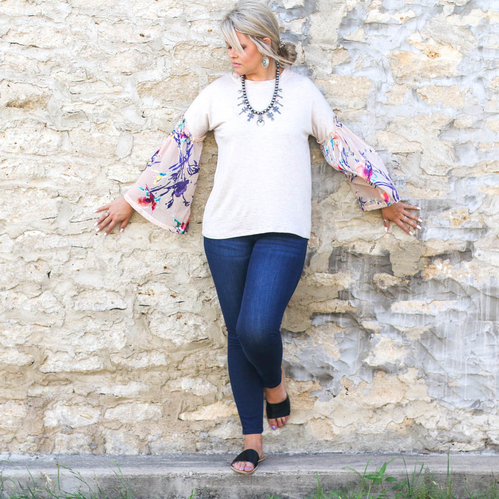 Punchy's Multi Colored Contrast Top