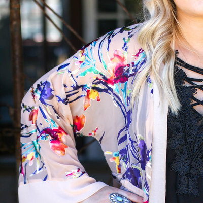 Punchy's Multi Colored Floral Kimono
