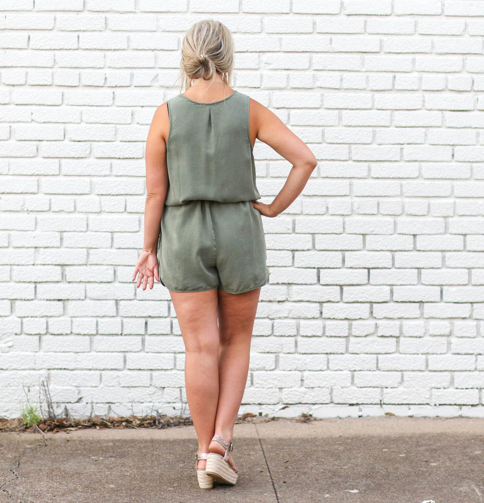 Punchy's Olive Washed Romper