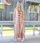 Punchy's Orange Tie Dye Maxi Dress