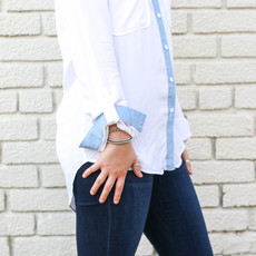 Punchy's Two-Toned Denim Shirt