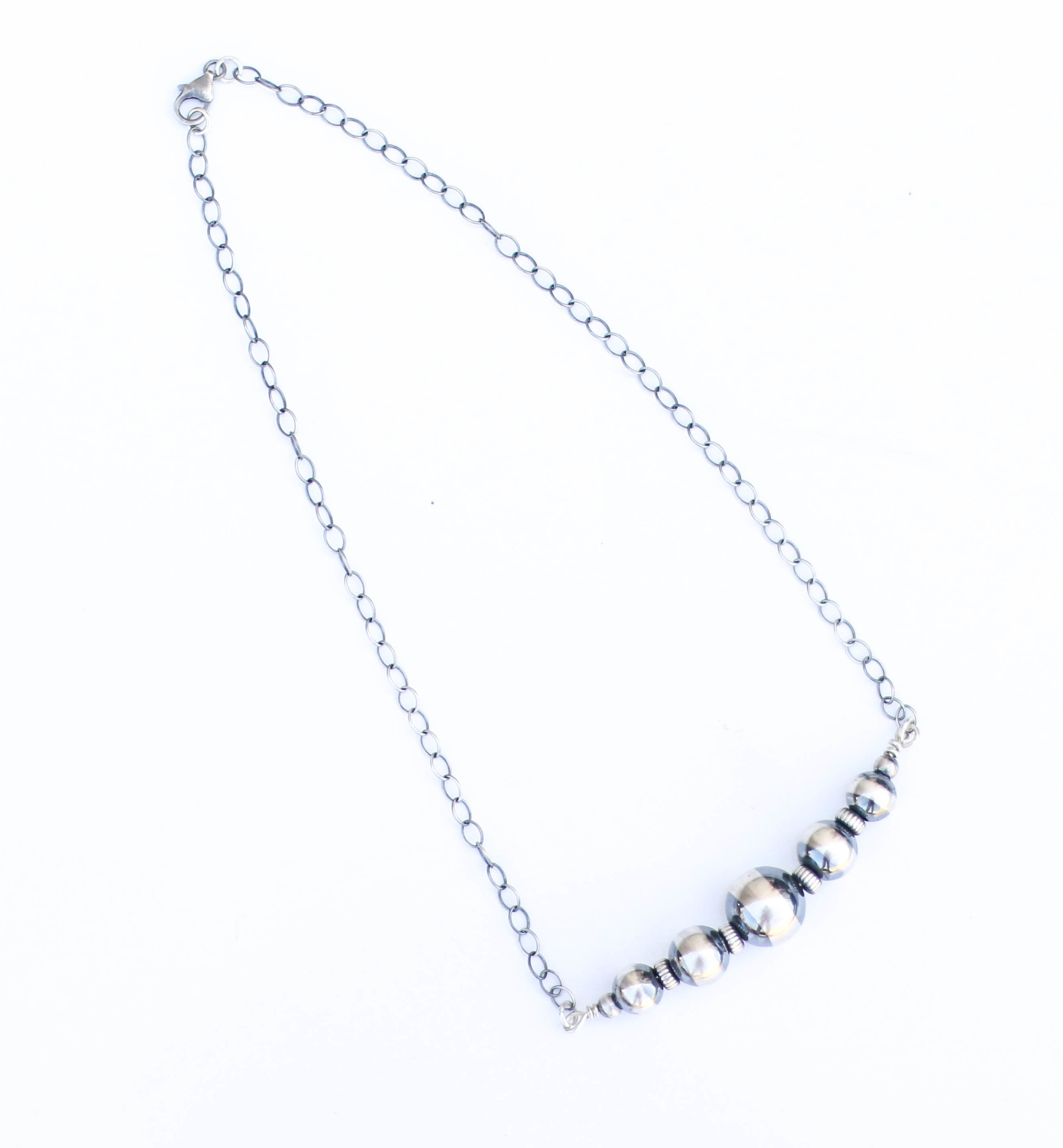 "Punchy's 20"" Navajo Pearl Bar Necklace"