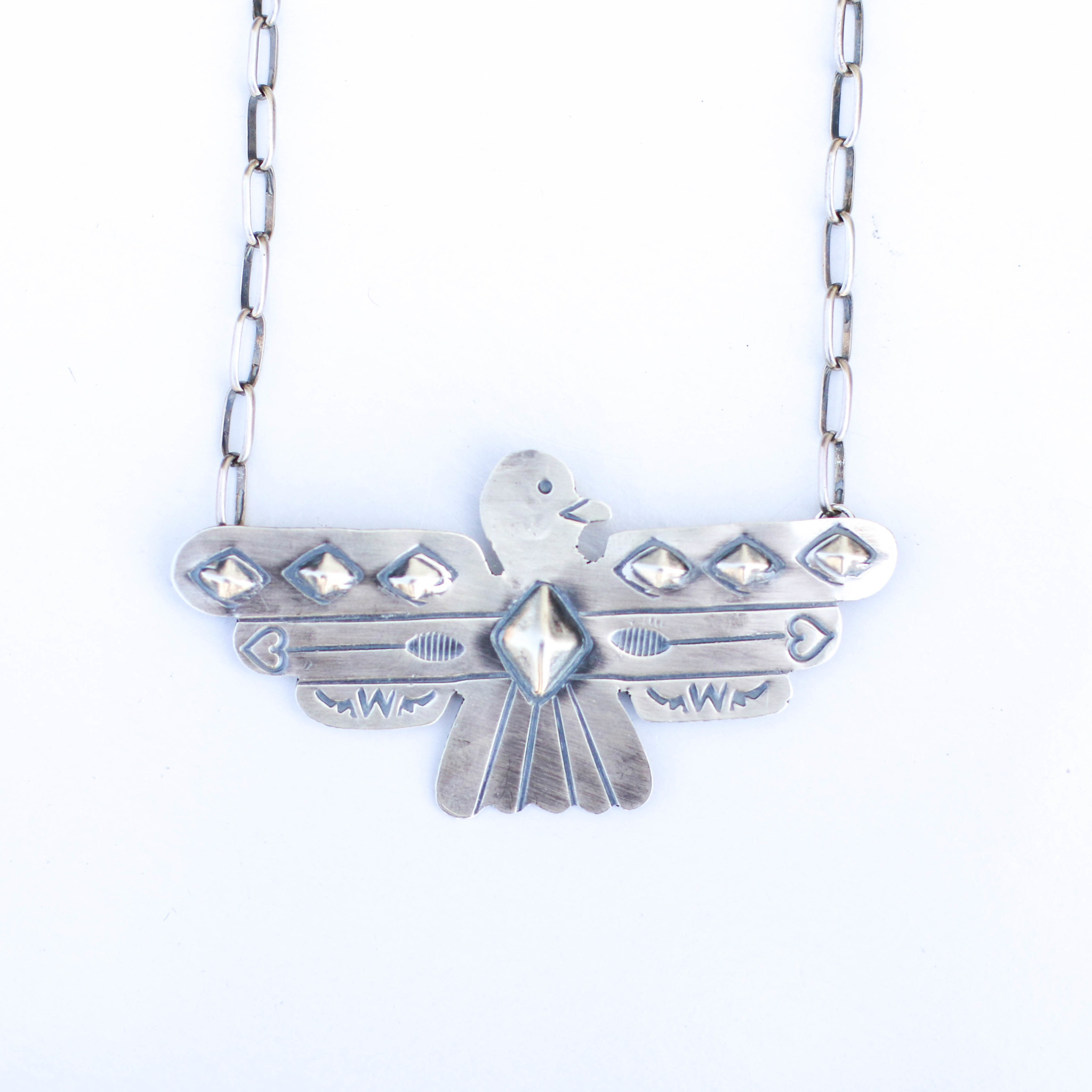 "Punchy's 20"" Thunderbird Bar Necklace"