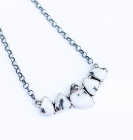 Punchy's 5 Stone White Buffalo Bar Necklace