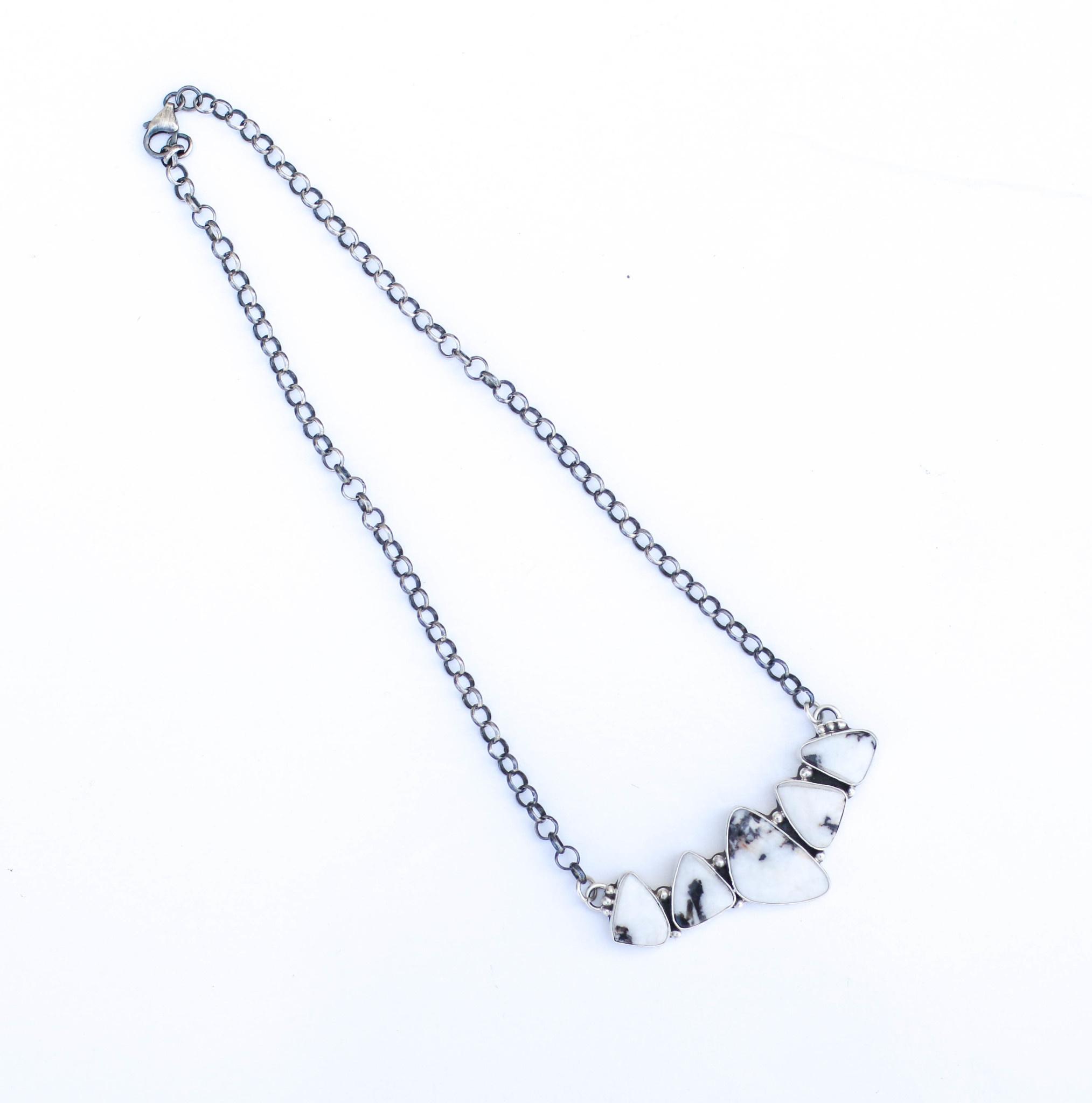 Punchy's 5 Stone White Buffalo Bar Necklace
