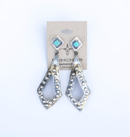 Punchy's Turquoise Diamond Post Earrings