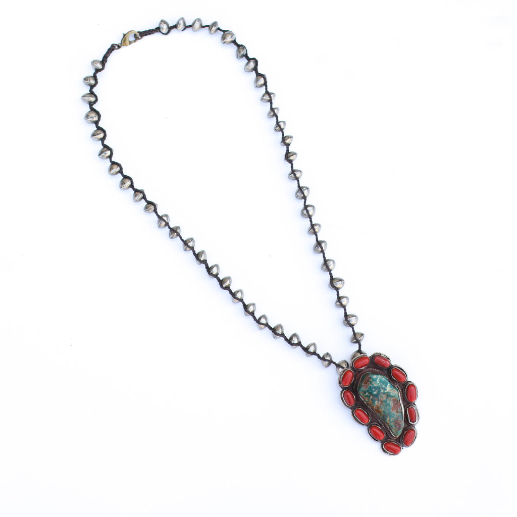 Punchy's Tibetan Turquoise and Coral Necklace