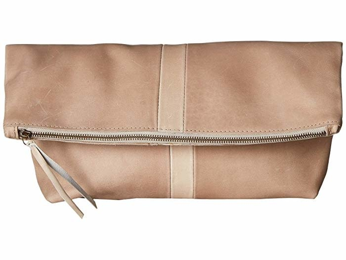 Punchy's Foldover Leather Clutch