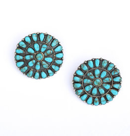 "Punchy's 2"" Round Cluster Earrings"