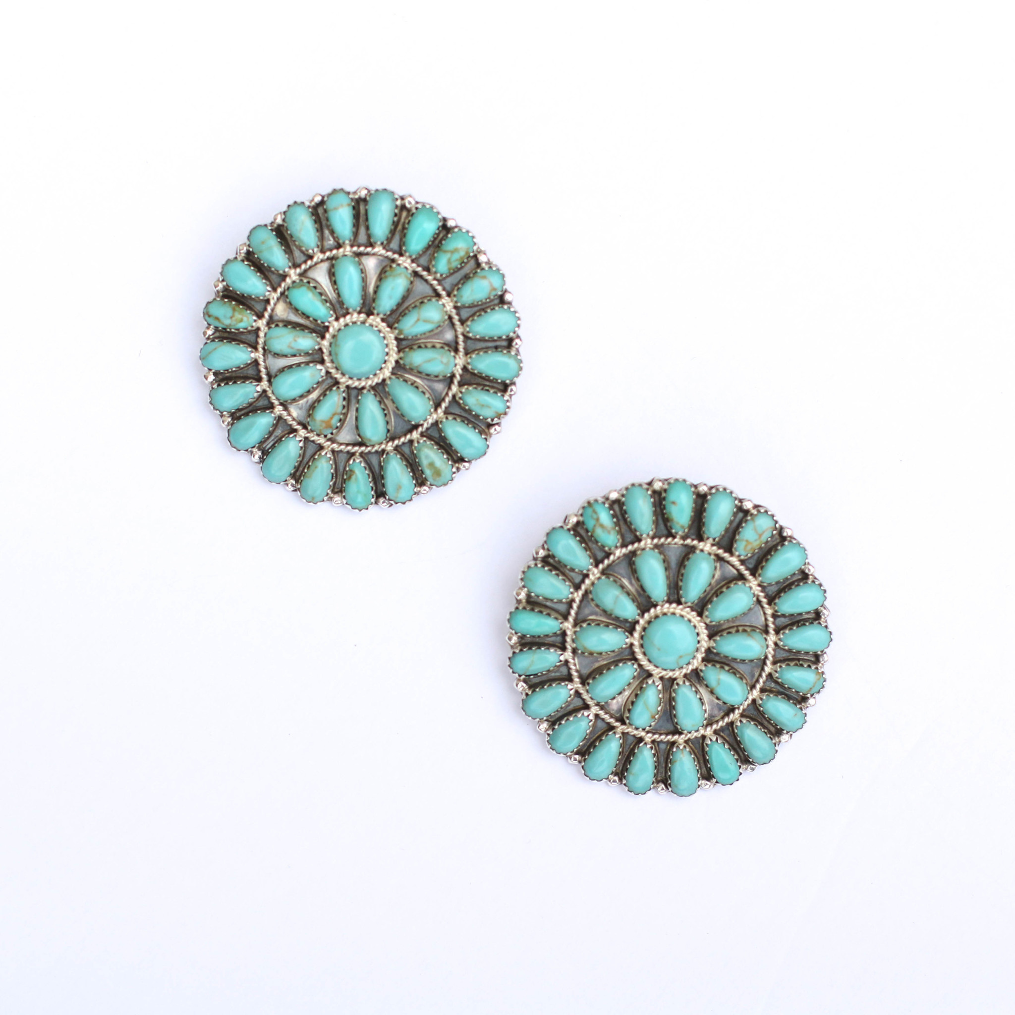 """Punchy's 2"""" Round Cluster Earrings"""