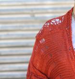 Punchy's Rust Knit Fringe Sweater