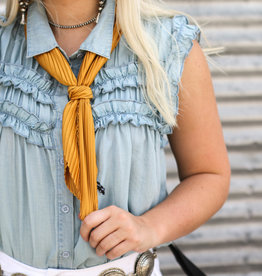 Punchy's Pleated Mustard Scarf