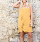 Punchy's Yellow Front Tie Halter Dress