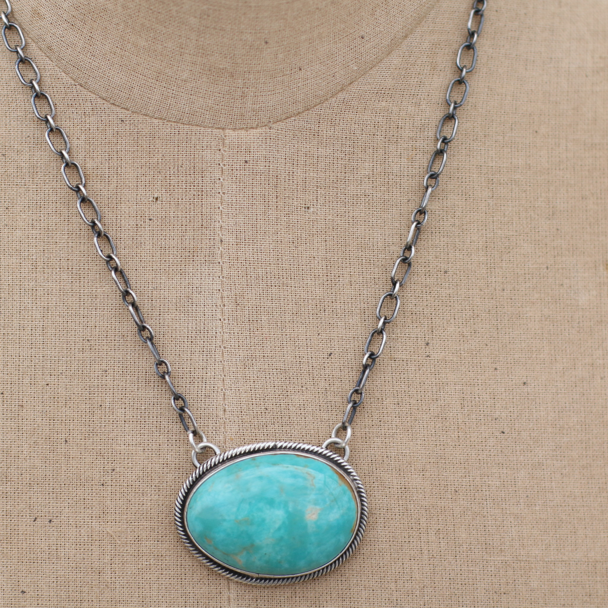 """Punchy's 19"""" Royston Turquoise Bar Necklace"""