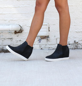 Punchy's Black Hidden Wedge Sneaker