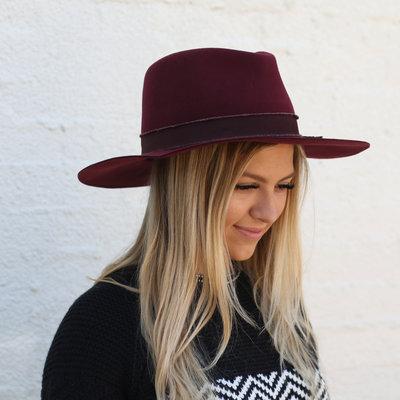 Punchy's Burgundy Structured Floppy Hat