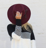 Punchy's Burgundy Structured Floppy Hat