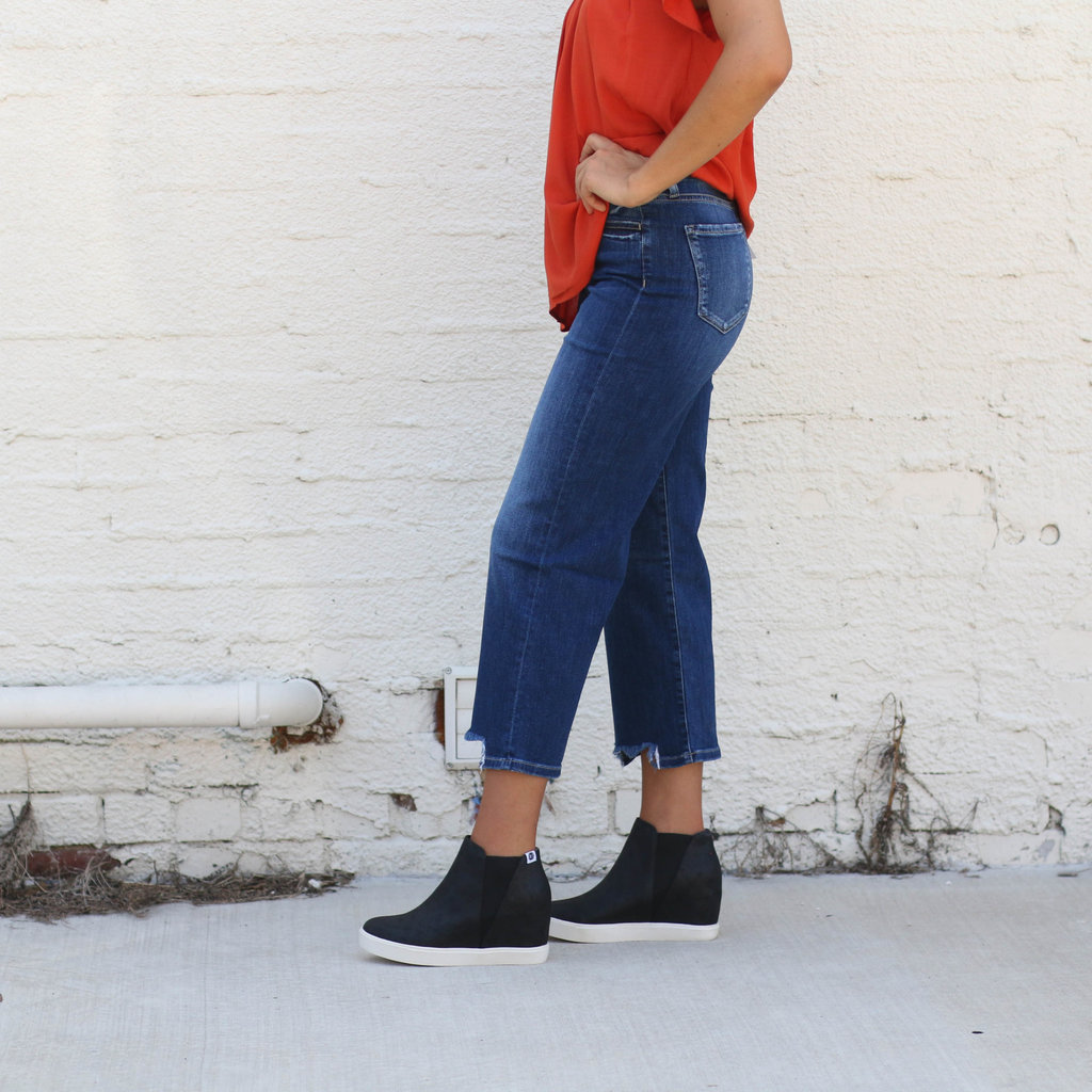 Punchy's High Rise Wide Leg Cropped Jean