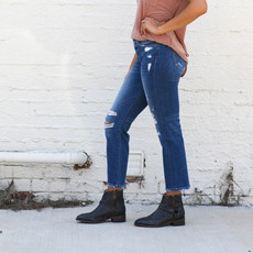 Punchy's Mid Rise Distressed Straight Leg Jean