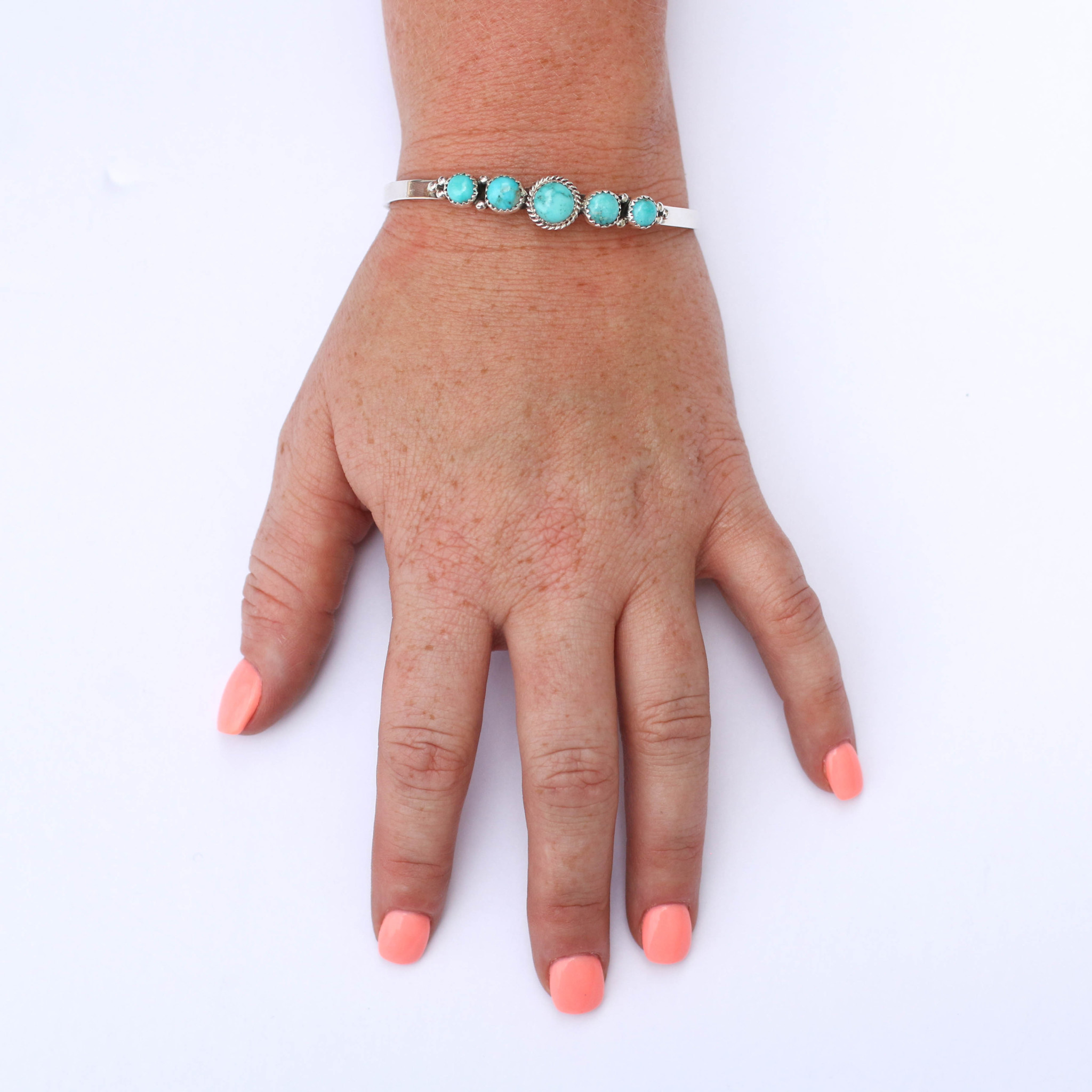 Punchy's Mini Turquoise Cinco Cuff