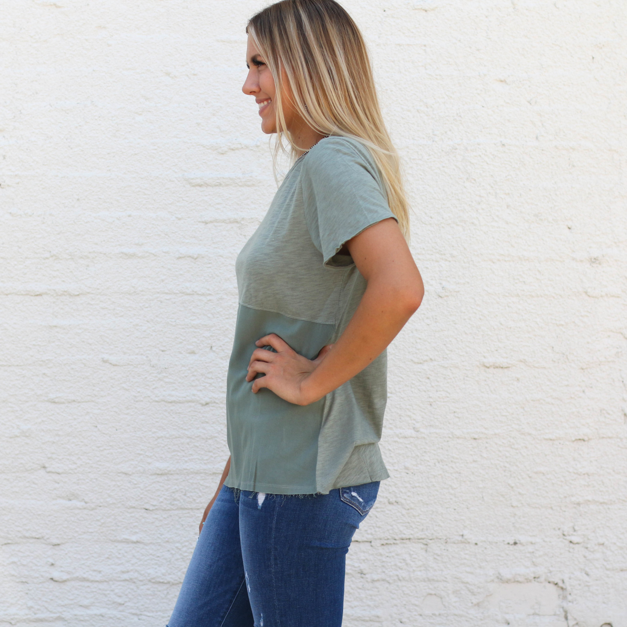 Punchy's Olive Ombre Tee
