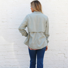 Punchy's Olive Washed Zipper Jacket