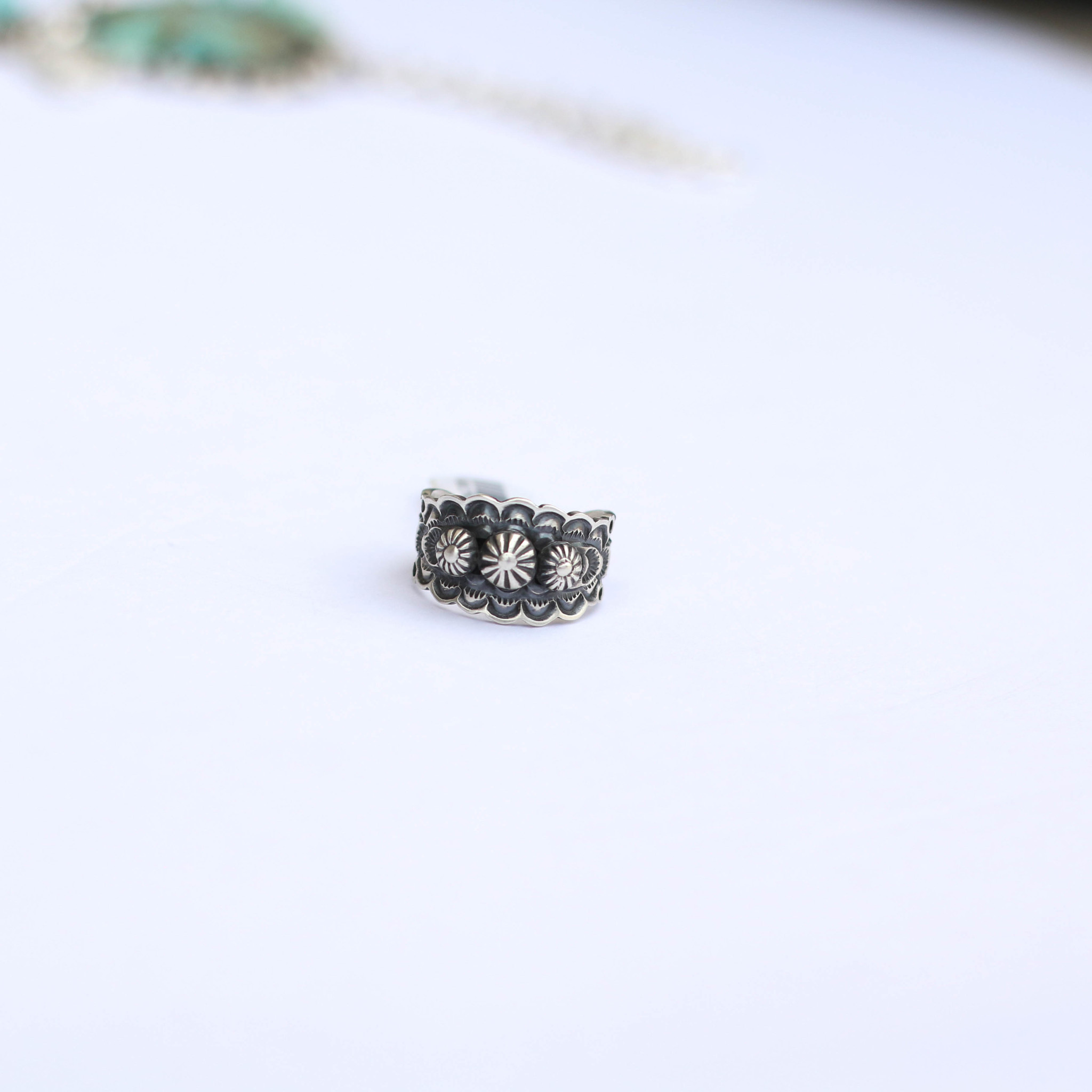 Punchy's Sterling Silver Studded Ring