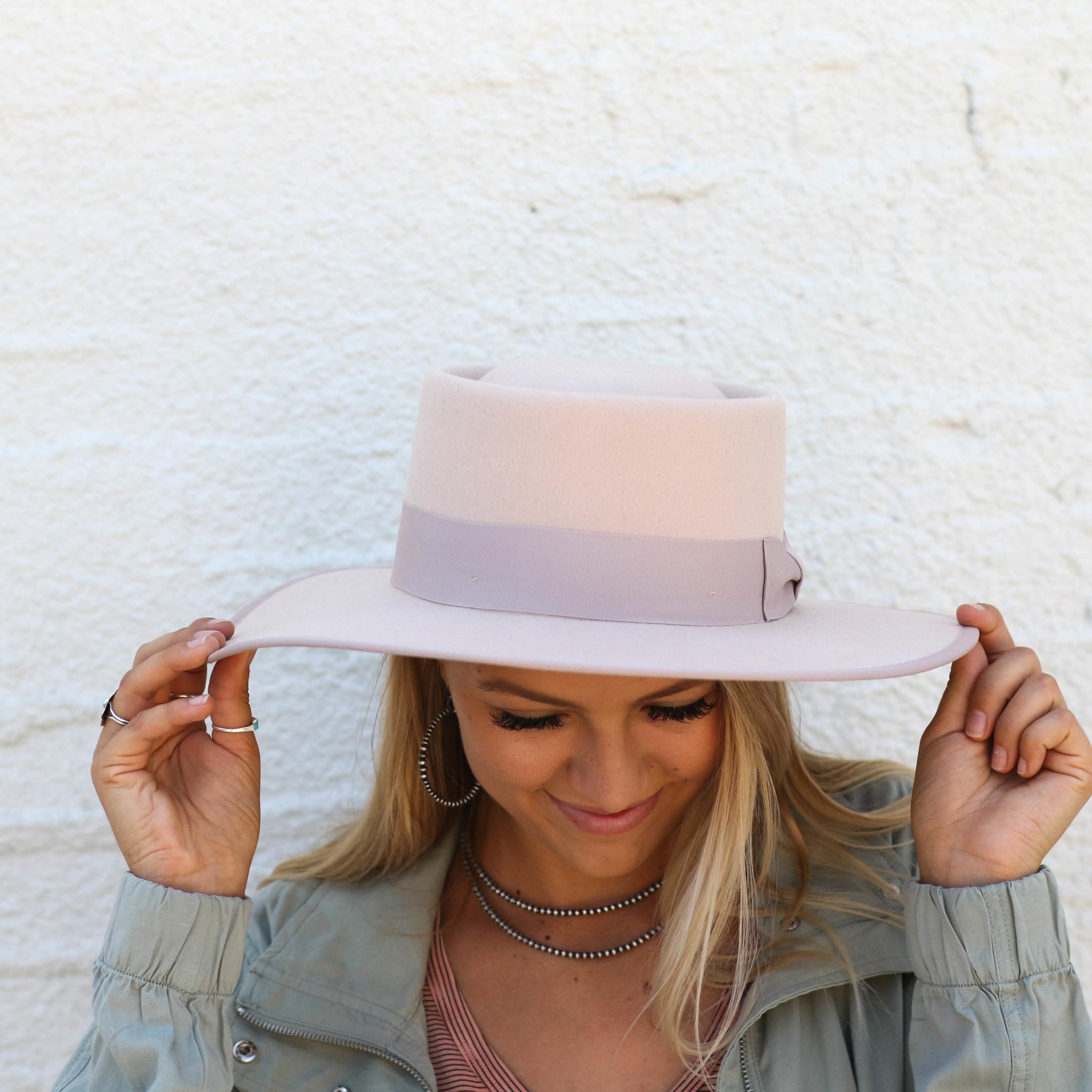 Punchy's The Blush Gambler Wool Hat