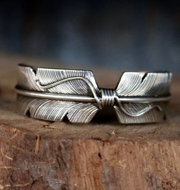Punchy's Sterling Silver Feather Cuff