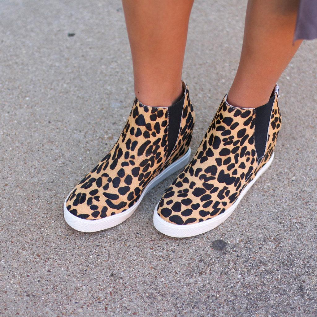 Punchy's Leopard Hidden Wedge Sneaker