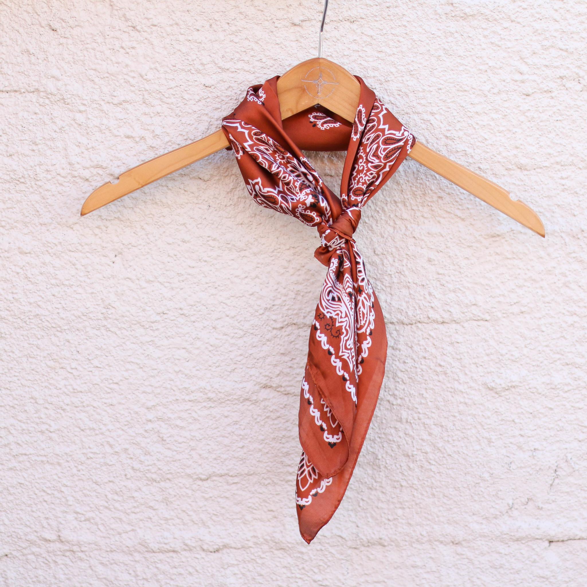 Punchy's Silky Rust Traditional Bandana Wildrag