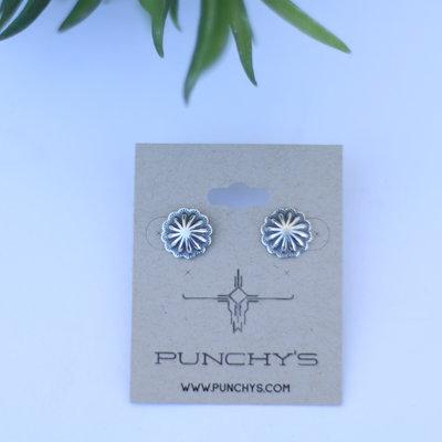 Punchy's Mini Stud Concho Earrings