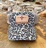 Punchy's Cheetah Hat with Leather Patch Brand