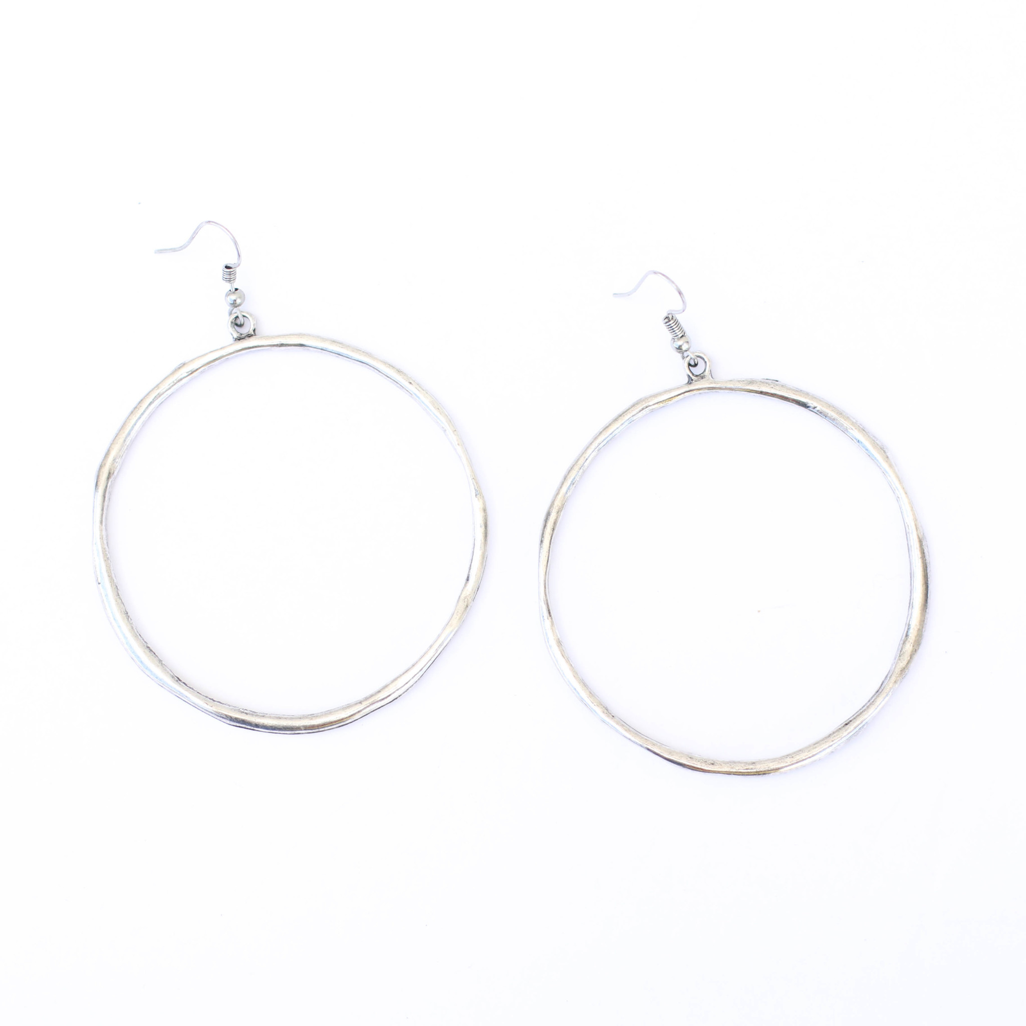 Punchy's Silver Hoop Dangle Earring