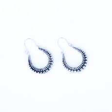 Punchy's Silver Dotted Hoop Earring