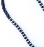 "Punchy's 30"" Smoke Pearl and Black Disc Bead Necklace"