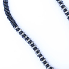 """Punchy's 30"""" Smoke Pearl and Black Disc Bead Necklace"""