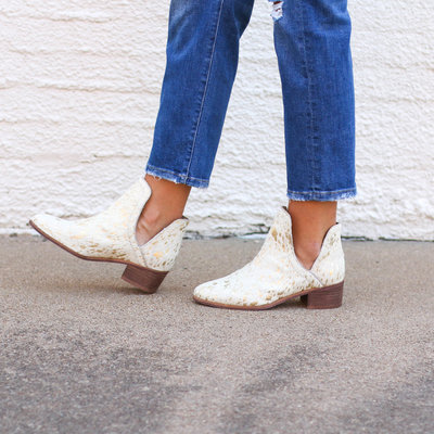Punchy's Gold Acid Wash Side Slit Bootie