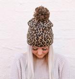 Punchy's Leopard Pom Pom Beanie