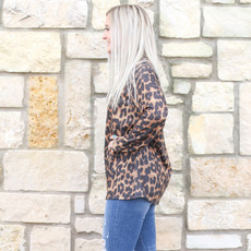 Punchy's Leopard Zip Turtleneck