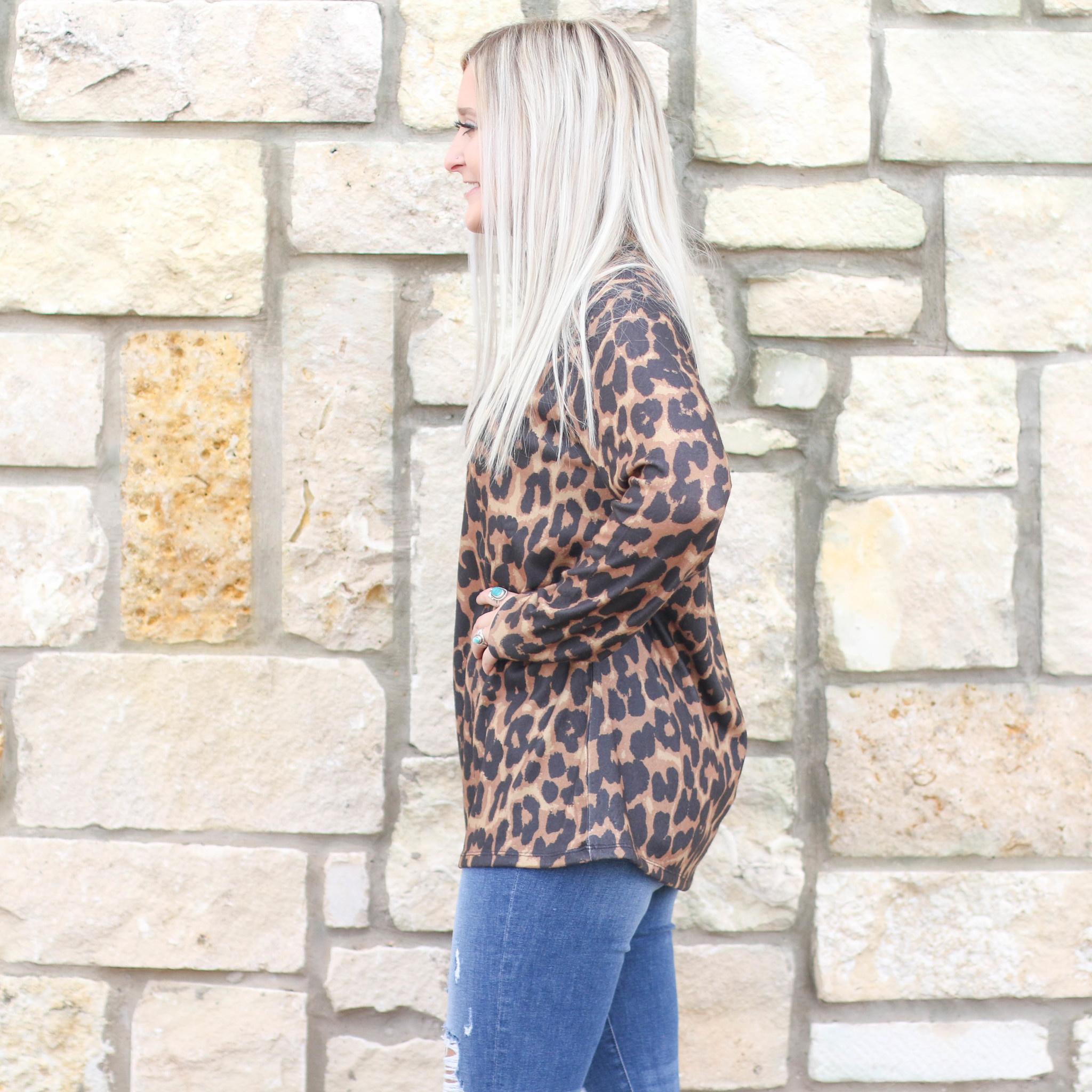 Punchy's Leopard Zip Turtleneck