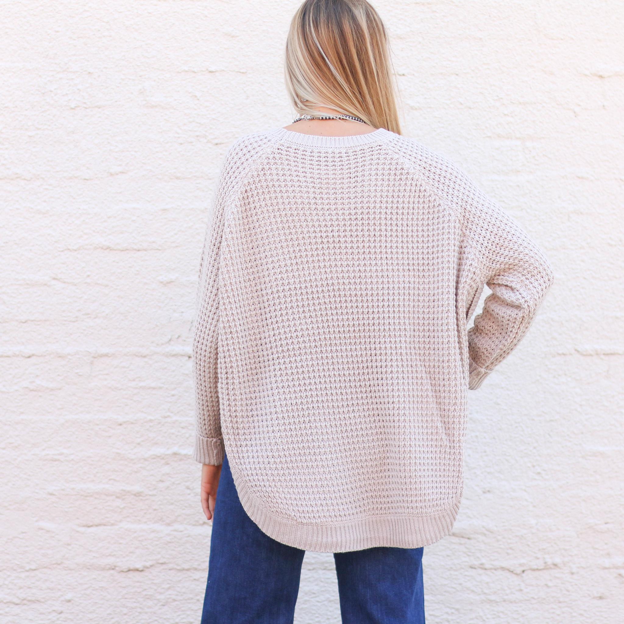 Punchy's Oak Rounded Bottom Sweater