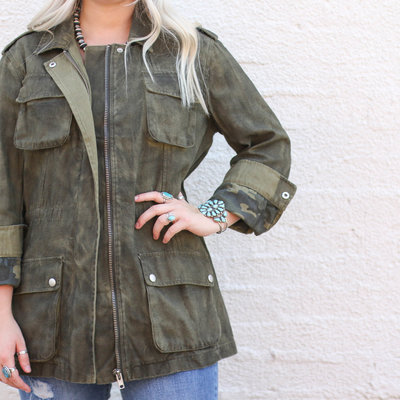Punchy's Olive Green Military Jacket